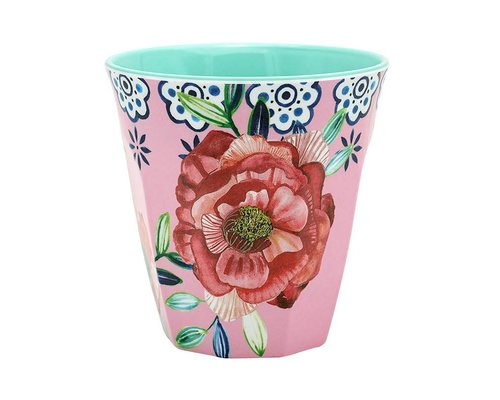 Cheerful Flower Medium Melamine Cup