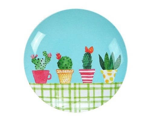 Lovely Cactus Melamine Lunch Plate