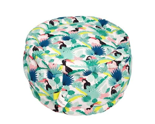 Tropical Paradise Found Mini Pouf