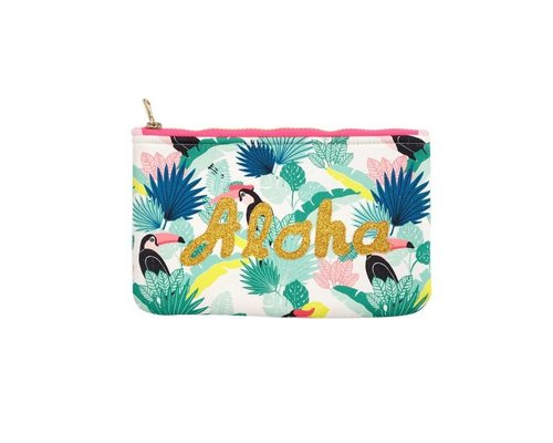 Tropical Paradise Zip Pouch ALOHA