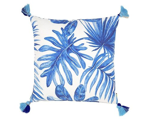 Tropical Paradise Found Cushion Blue