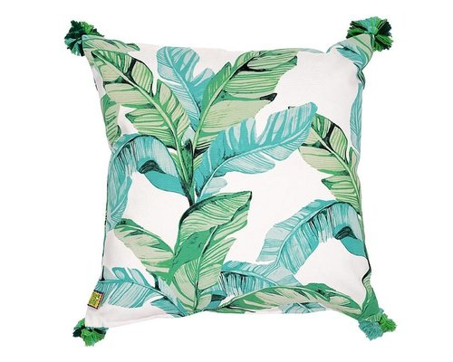 Tropical Paradise Found Cushion Green