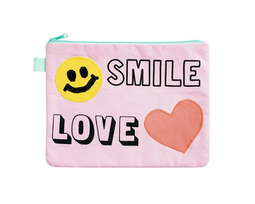 Zip Pouch - Smile, Love, Free