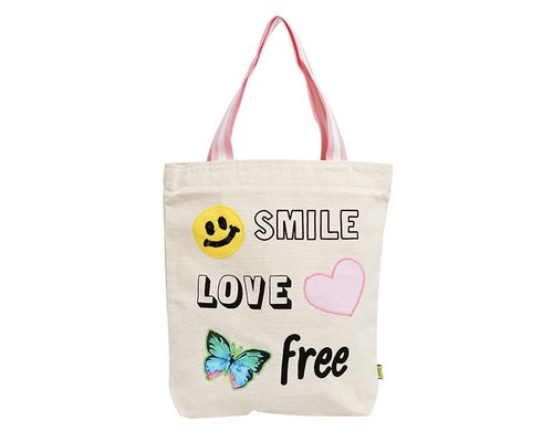 Tote bag - Smile-Love-Free