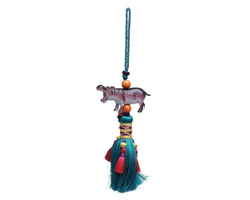 Tassel Decoration Hanger Hippo