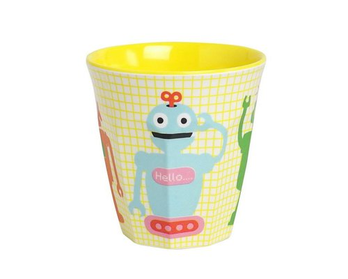 Funky Robots Kids Melamine Small Cup