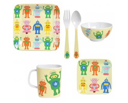 Funky Robots Kids Melamine set