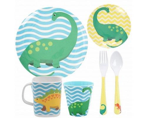 Happy Dinosaurs Kids Melamine set 1