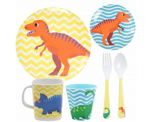 Happy Dinosaurs Kids Melamine set 2
