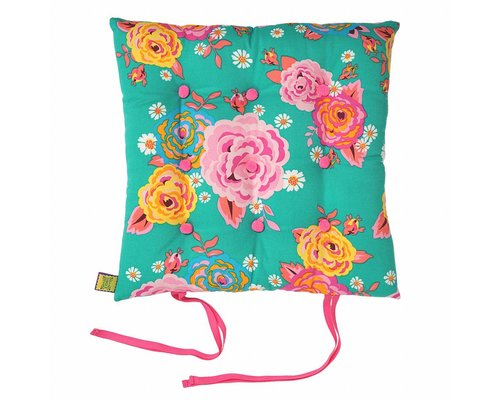 Asian Vintage Flower Chair Cushion