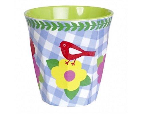 Vintage Bird Medium Melamine Cup