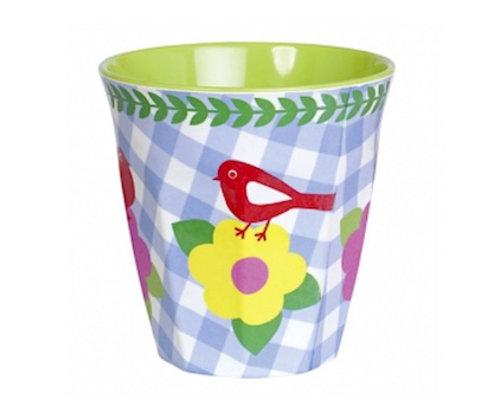 Vintage Bird Small Melamine Cup