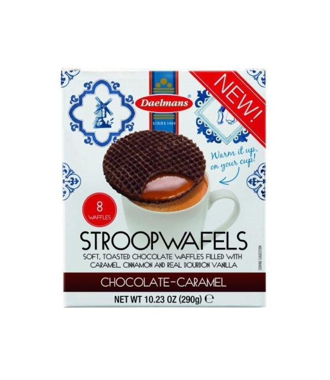 Daelmans Chocolate Caramel Stroopwafels | Cube Box