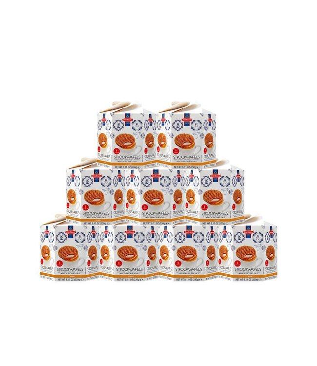 Daelmans Caramel Stroopwafels in Hexa Box - Case of 9