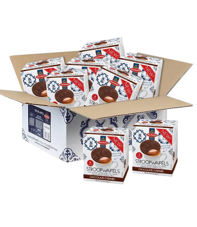 Daelmans Chocolate Caramel Stroopwafels - Case of 8