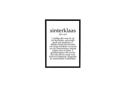 SEQ Lifestyle Sinterklaas Poster tekst z/l