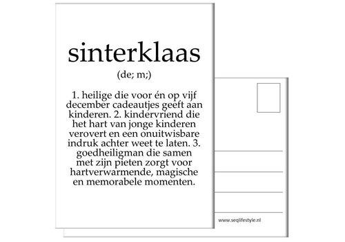 SEQ Lifestyle Kaart Sinterklaas tekst