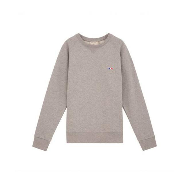 Sweat Tricolor Fox Patch Grey