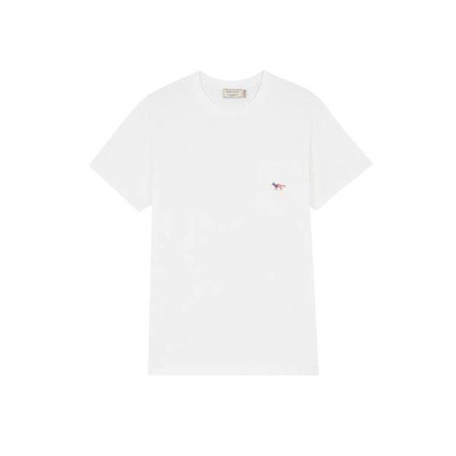 T-Shirt Fox Patch America Latte
