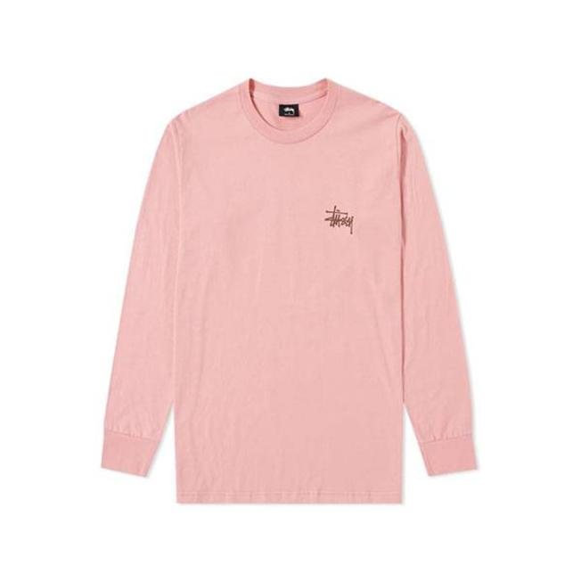 Basic Stussy Tee L/S Pink
