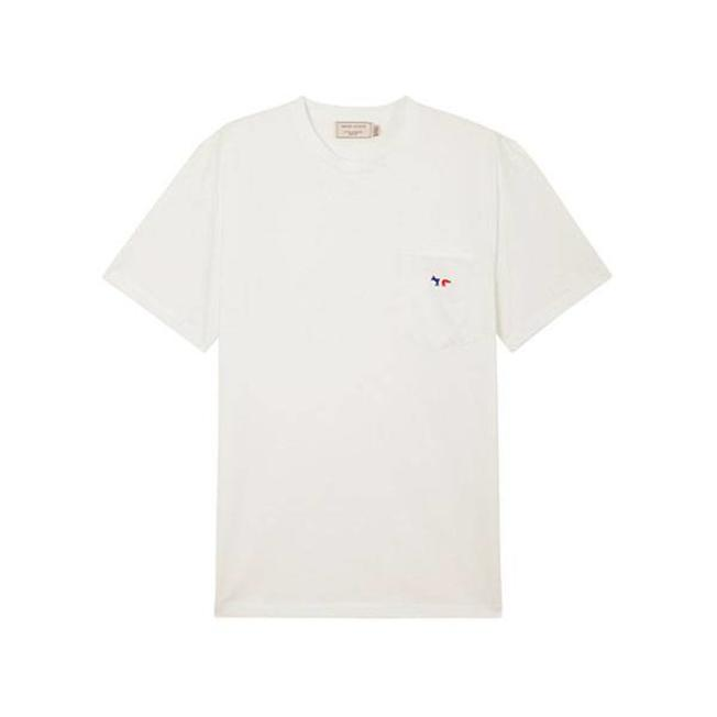 Tee-Shirt Tricolor Fox Patch White