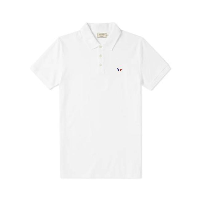 Polo Tricolor Fox Patch White