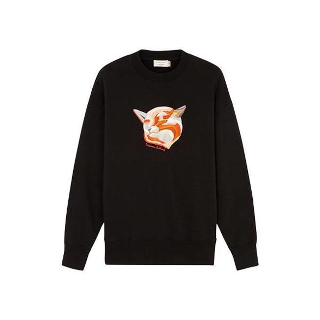 Sweat Shirt Fox Embroideriel Black