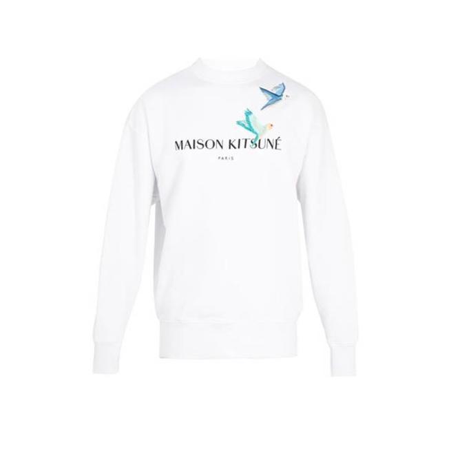 Sweatshirt Lovebirds White
