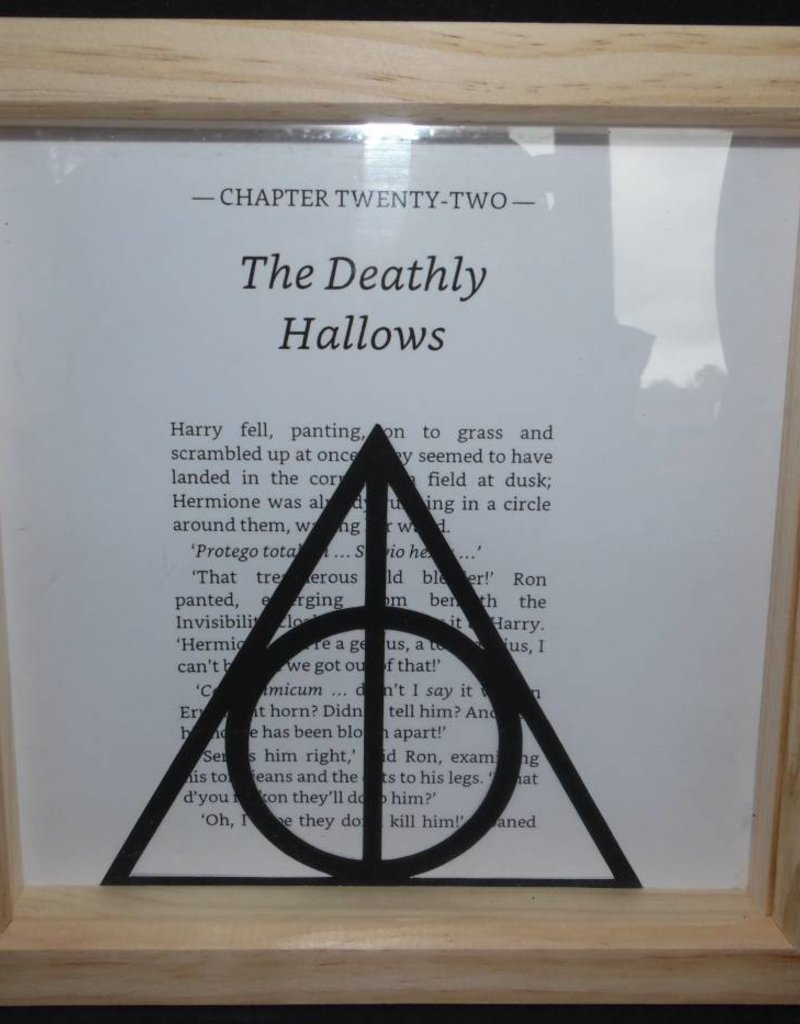 Paper cut image of the deathly hallows symbol mrs puddifoots paper cut framed picture the deathly hallows biocorpaavc Images