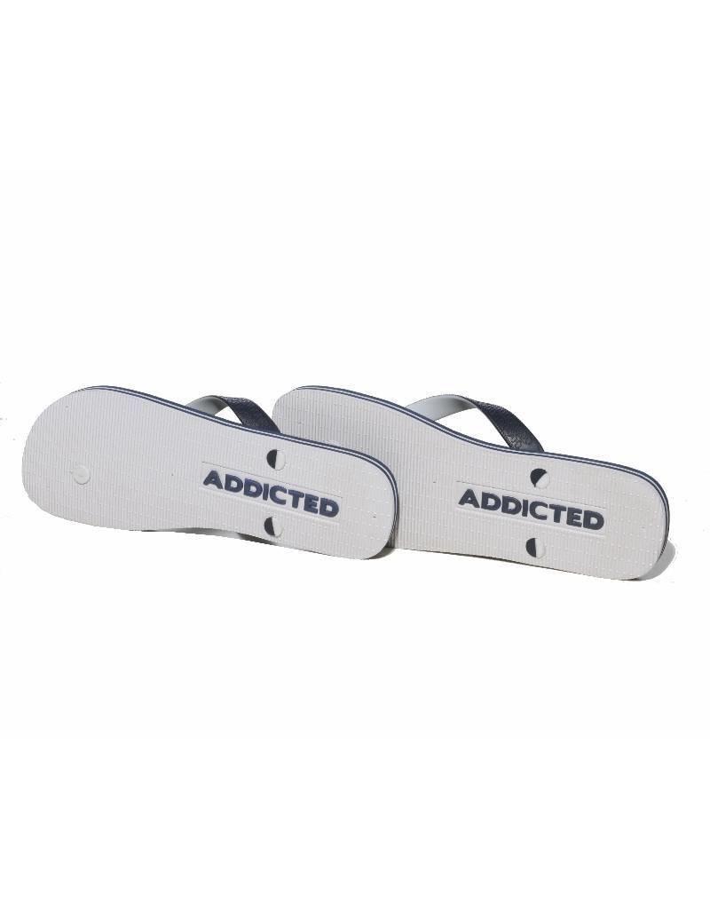 Addicted ADDICTED Flip Flops navy - white