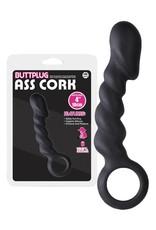 Ass Cork Butt Plug schwarz