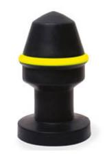 Keep Burning Fluo Pipe Plug Black/Yellow
