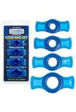 Titanmen - Cock Ring Set Blue
