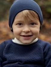 Minimalisma Thule sweater wool - fine knit - 100% lambswol -  dark blue -  18m to 6y