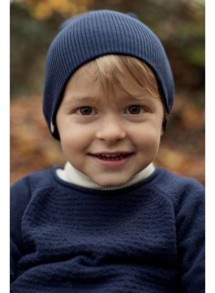 Minimalisma Thule trui wol - fijn gebreid - 100% lamswol - donkerblauw -  18m tm 6 jaar
