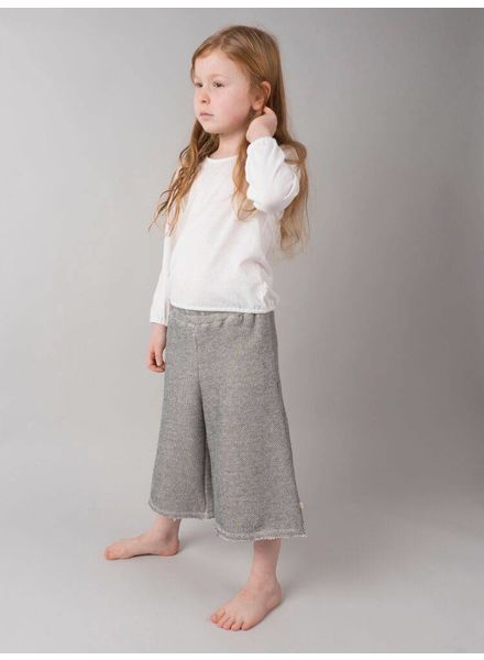 Minimalisma Ronja pants - organic cotton - grey melange - 4 to 6 years
