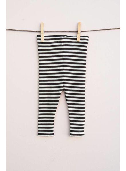 Lilli & Leopold baby legging wol - 100% bio merino - gestreept - 80 tm