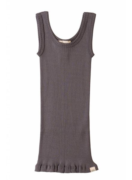 Minimalisma Billund silk tanktop - 70% silk - dark grey - 2 to 8 years