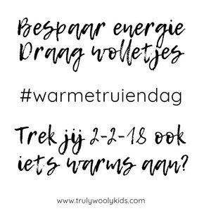 WARMETRUIENDAG TIP: bespaar energie, draag wol!