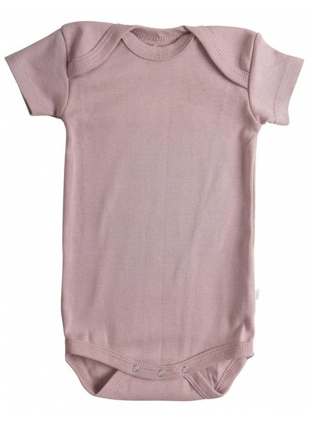 Minimalisma Nea romper - ribbed- 100% organic cotton - dusty rose - 12m tm 3 years