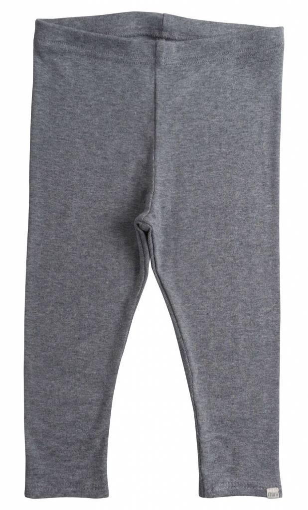 Minimalisma Nice legging - fijn geribd - 100% biologisch katoen - gemeleerd grijs - 18m tot 6 jaar