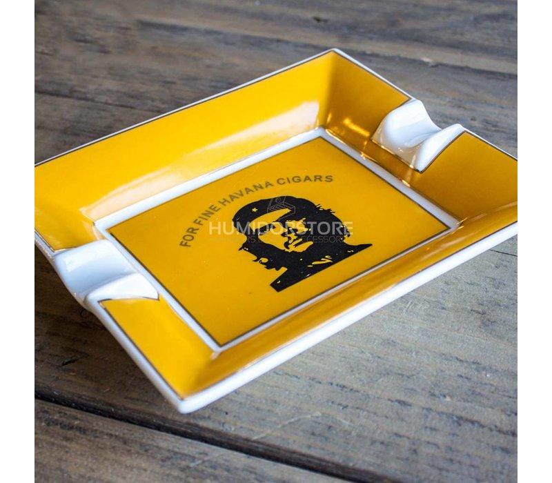 Cigar ashtray Che Guevara yellow