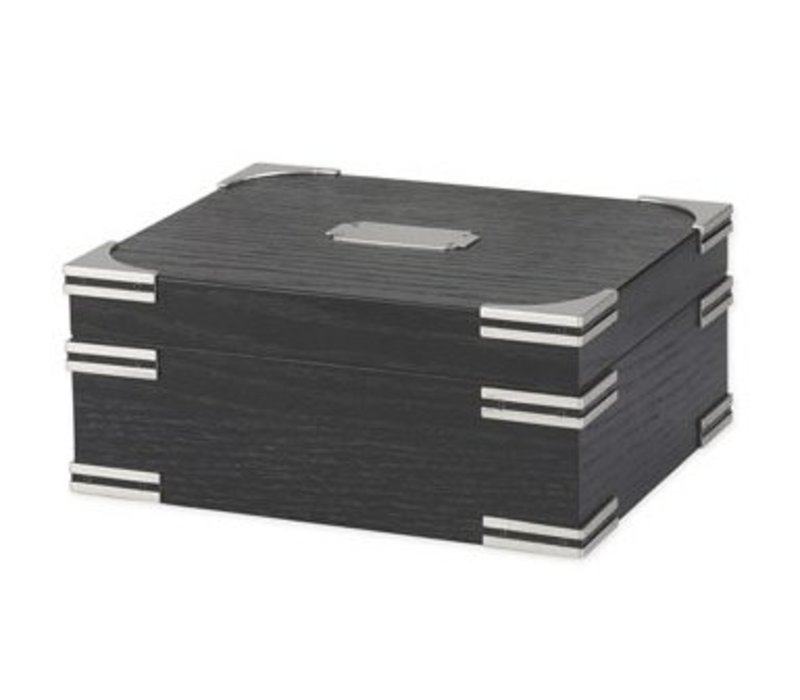 Humidor Steel Oak Black