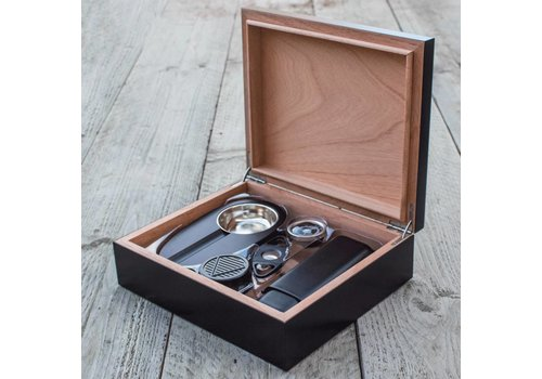 Humidor bookwill - Black set