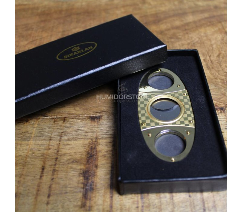Guillotine Cigar Cutter Gold