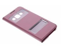 Rote Luxus Slim Booktype Hülle mit Sichtfenster Samsung Galaxy A3