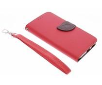 Rote Blatt-Design TPU Booktype Hülle für LG Nexus 5X