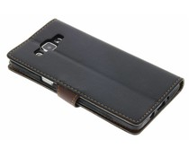 Blatt-Design TPU Booktype Hülle Schwarz für Samsung Galaxy A5