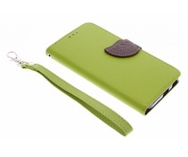 Blatt-Design TPU Booktype Hülle Grün für LG Nexus 5X