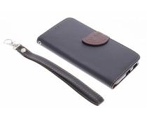 Blatt-Design TPU Booktype Hülle Schwarz für LG Nexus 5X